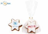 21.81 gingerbread Star with logo print 21g