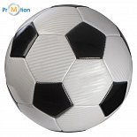 Soccer ball with logo print