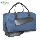 Travel bag blue with logo printing