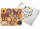 gift set with biscuits with logo printing