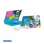 Mentos candy with a self print card