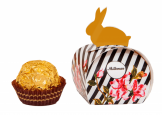 Golden Easter Bunny Praline with logo printing