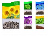 Gift packet of sunflower seeds, neoplasties, quadruples, blackberries and macaws