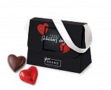chocolate purse with pralines with logo printing