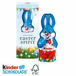 kinder chocolate hare with logo print