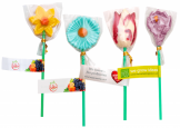 lollipop flower with logo print