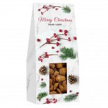almonds, gingerbreads, cranberries with logo printing
